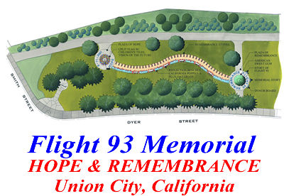 Concept Drawing Flight 93 Memorial in Union City, California